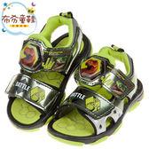 《布布童鞋》侏儸紀公園迅猛龍螢光綠兒童電燈涼鞋(15~20公分) [ M9G818C ]