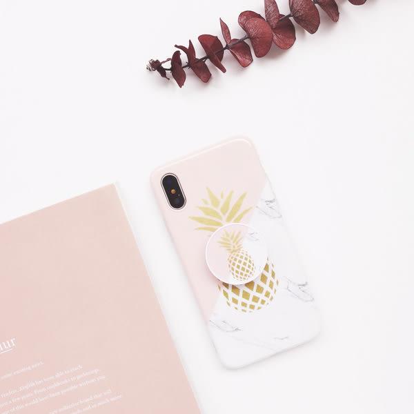 【SZ24】接拼鳳梨氣囊支架iPhoneX手機殼光面imd保護套iPhone7 iPhone8 iPhone6 i6 7plus 8plus 6plus手機殼