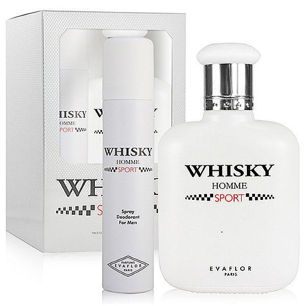 Whisky Homme Sport 威士忌 運動 男性淡香水禮盒(男香100ML+體香噴霧75ML)【七三七香水精品坊】