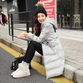 羽絨外套 中長款-時尚連帽修身保暖女夾克3色73it210[時尚巴黎]