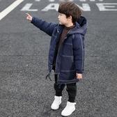 兒童外套 童裝男童冬裝棉服外套洋氣兒童中長款羽絨棉衣韓版棉襖潮