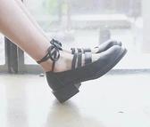 冬季日系原宿洛麗塔lolita軟妹 公主鞋cos女鞋厚底系帶鬆糕娃娃鞋