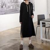 正韓 連帽配色休閒針織洋裝 (3350791) 預購