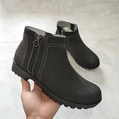 裸靴 秋冬新外貿加絨雙拉鏈短靴女歐洲站時尚防滑軟底舒適大碼裸靴棉靴 霓裳細軟