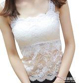 女士背心-夏季女士韓版打底衫百搭短款小背心大碼內搭上衣抹胸薄款蕾絲吊帶 多麗絲旗艦店