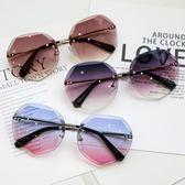 2018新款女士防紫外線墨鏡網紅同款太陽鏡圓臉長臉韓版開車眼鏡潮『摩登大道』