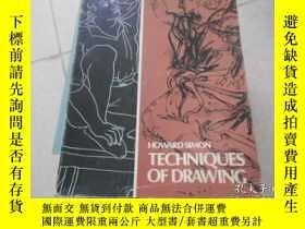 二手書博民逛書店TECHNIQUES罕見OF DRAWING技術圖紙Y20470