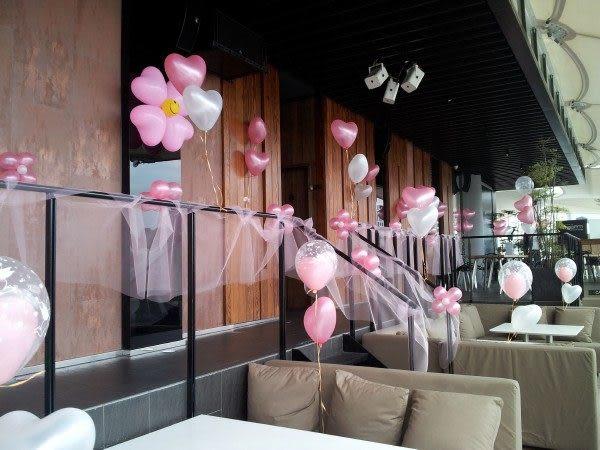 情意花坊超級商城~生日派對必備商品~生日氣球佈置氣球花+拉紗佈置只要3999元