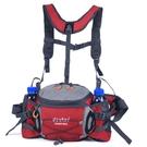 運動腰包水壺戶外男多功能徒步騎行雙肩背包旅游女大容量登山裝備「時尚彩紅屋」