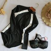 韓國新款長袖速干潛水服連體泳衣女防曬水母衣修身顯瘦浮潛沖浪服   泡芙女孩輕時尚