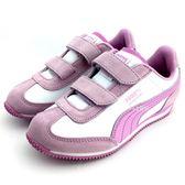 《7+1童鞋》中童  PUMA  Whirlwind L V PS  輕量 透氣 休閒 運動鞋 8234 紫色