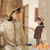 女童撞色針織開衫馬甲春秋兒童韓版小馬夾背心【淘嘟嘟】