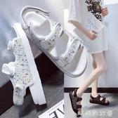 羅馬涼鞋女2020年夏季新款厚底網紅爆款舒適軟底學生百搭平底鞋潮「時尚彩紅屋」