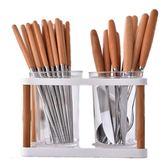 多功能瀝水塑料筷子筒日式家用筷子籠創意廚房筷子架餐具筒快簍 雙12鉅惠交換禮物