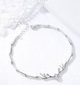 手鐲 一鹿有你925純銀手鏈女韓版簡約學生森系閨蜜手鐲冷淡風生日禮物 英賽爾3C數碼店