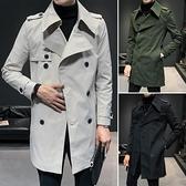 設計感風衣男士中長款英倫風帥氣韓版潮流休閒外套秋冬季大衣潮牌 黛尼時尚精品