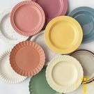 盤子碟子可愛家用陶瓷餐盤菜盤日式早餐餐具沙拉西餐盤【雲木雜貨】