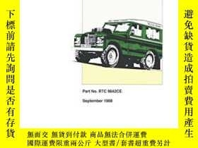 二手書博民逛書店Land罕見Rover Series IIA, III, 109V8 Optional Equipment Par