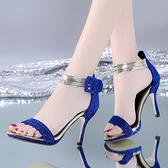 涼鞋女學生韓版高跟鞋2020大東妞夏季女士性感百搭露趾細跟女鞋子 時尚芭莎