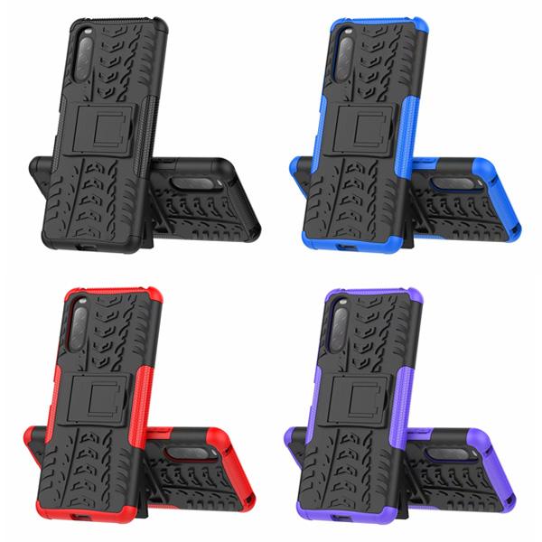 SONY Xperia 10 II Xperia 1 II 手機殼 輪胎紋 防摔 全包邊 內軟殼 TPU 外硬殼 PC 保護殼