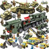 組裝積木兼容樂高益智軍事坦克積木男孩智力兒童拼裝玩具模型組裝車合體