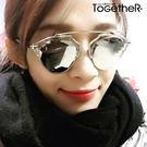 ToGetheR+【CE925KH】貓眼造型潮流鏡架太陽眼鏡(五色)