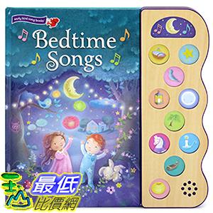 [106美國直購] 2017美國暢銷兒童書 Bedtime Songs: 10-Button Children s Sound Book (10 Button Sound)