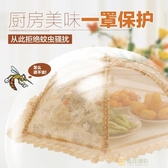 菜罩可折疊飯菜罩子食物罩蓋菜罩碗罩餐桌罩剩菜罩防蒼蠅大號圓形wy 快速出貨