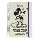 《sun-star》迪士尼復古米奇硬殼大線圈綁帶筆記本funbox生活用品_UA43763