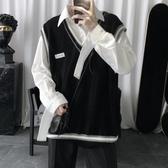 入秋推薦針織馬甲男搭配有感覺的V領無袖毛衣背心 韓國時尚週