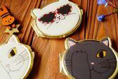 鏡子 樹下盒  貓顏隨身鏡迷你貓咪化妝鏡迷你小巧折疊雙面小圓鏡子 創想數位
