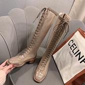 夏季長靴子女夏天網靴鏤空涼靴網紗百搭透氣薄款長筒靴顯瘦高筒靴7 幸福第一站
