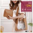 包中包-簍空拼接設計果凍手提/斜背包中包-共4色-A17172841-天藍小舖