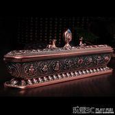 香爐 藏式家用室內供佛用具擺件純銅色密宗供奉線香薰爐 八吉祥臥香爐 玩趣3C 玩趣3C