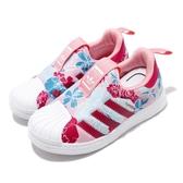 adidas 休閒鞋 Superstar 360 I 粉紅 白 童鞋 小童鞋 花卉圖樣 運動鞋 【ACS】 EF6641