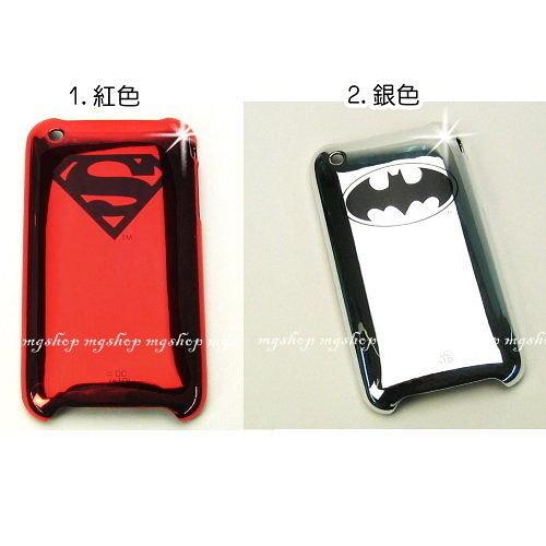日本原裝 I PHONE 3GS 3G保護套殼/SUPERMAN.BATMAN