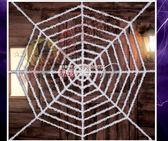 萬聖節道具   萬聖節鬼節裝飾用品禮品蜘蛛絲蜘蛛網     數碼人生
