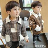 中大尺碼男童毛呢外套 兒童冬裝羊羔絨外套新款2-5寶寶冬裝4-6加絨加厚大衣 AW10604【棉花糖伊人】