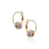 耳環 925純銀鑲鑽-優雅氣質生日情人節禮物女耳針2色73gt95[時尚巴黎]