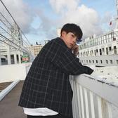 長袖襯衫2019春秋季格子襯衫男長袖韓版潮流寬鬆襯衣男士外套 嬡孕哺