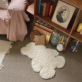 仿兔毛小熊地毯床邊毯裝飾墊子地墊【白嶼家居】