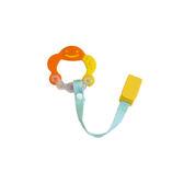 Richell利其爾 - 固齒器 橘黃色有聲音 (附固定夾)