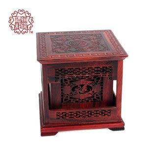 紅木香爐四方香盒 紅酸枝香道擺件
