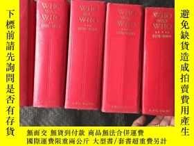 二手書博民逛書店WHO罕見WAS WHO (VolumeI.1897-1915V