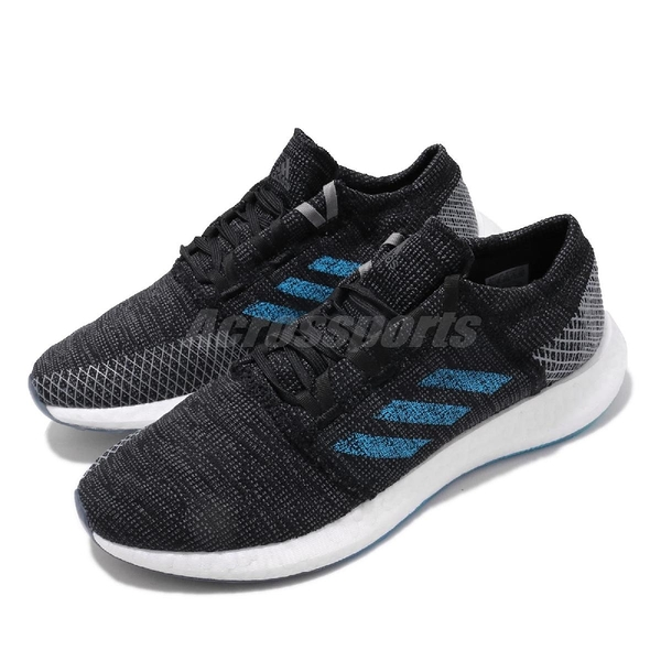 adidas 慢跑鞋 PureBOOST Go 灰 黑 男鞋 運動鞋 【PUMP306】 EF7634