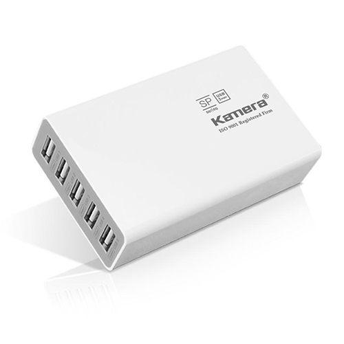 快速出貨【Kamera】5 Port USB 充電器 SP-5U 電源供應器/USB充電器/手機/平板/行動電源 佳美能