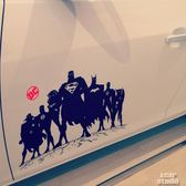 愛卡車貼DC動漫英雄集合系列正義聯盟超人蝙蝠俠閃電俠【韓衣舍】
