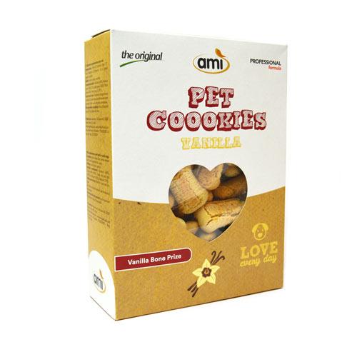 AMI Dog Cookies 阿米狗餅乾 香草口味400g (骨頭型)_ 愛家嚴選純素寵物食品 素食 全素狗點心