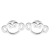 耳環 925純銀銀飾-可愛猴子生日情人節禮物女飾品73dy144【時尚巴黎】