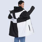 黑白方塊防風鋪棉外套  STAGE BLOCKS WINDBREAKER黑白
